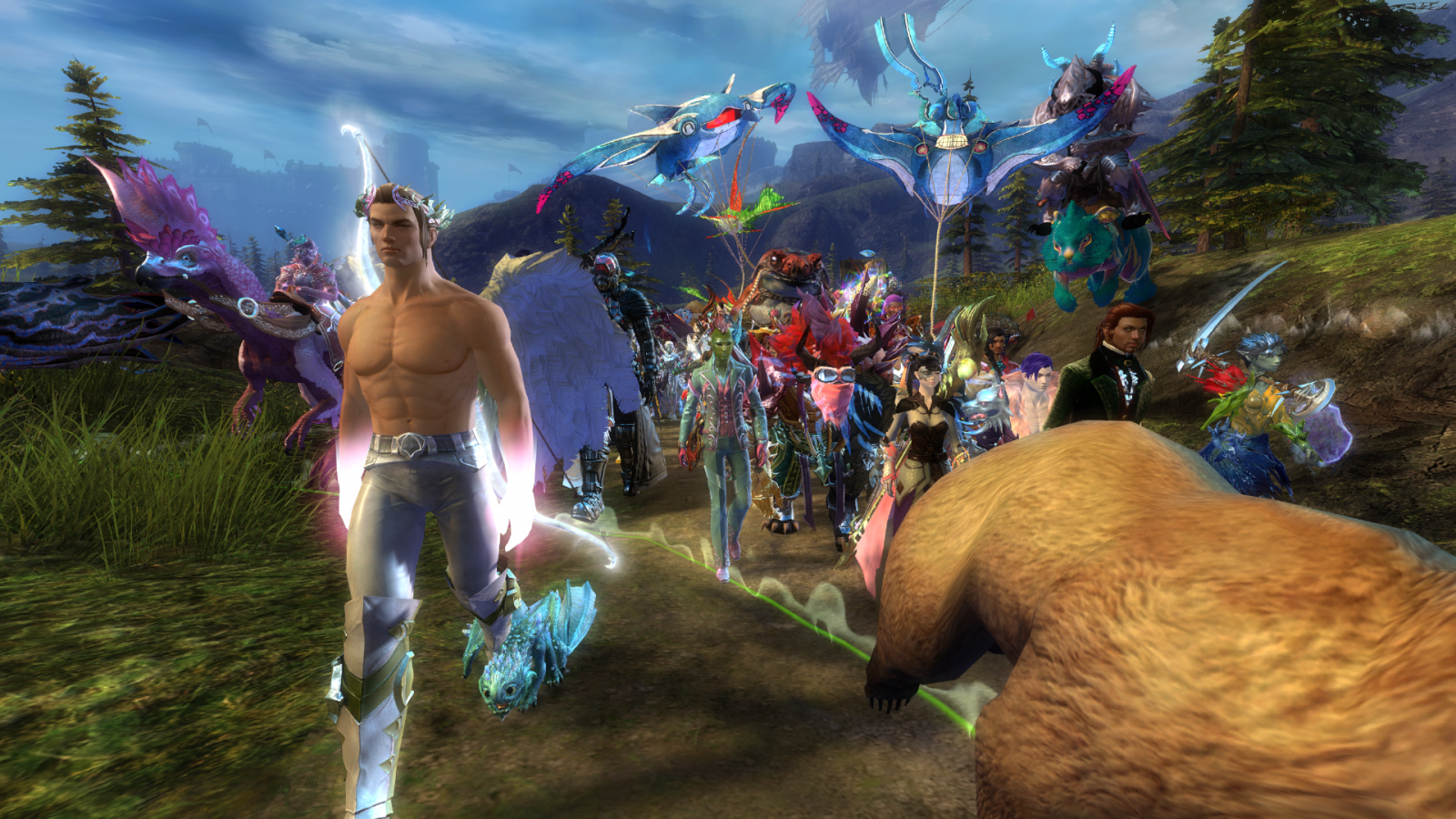 Lots of great sights around Tyria during the march :P